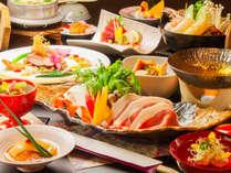 八幡平ポークと季節の食材による和食会席をお楽しみください。