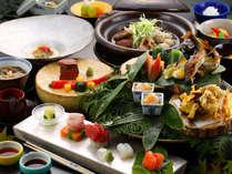 【特選懐石コース】豪華食材を盛り込んだ懐石コース。