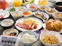 ご朝食は岩手県産食材を中心とした和洋のメニューの他、中国料理店ならではの中華粥もブッフェスタイルで
