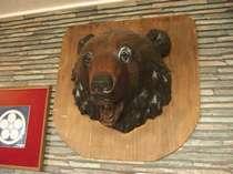 ロビーにある大きなクマの顔