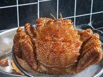 えりも産の毛カニは、活の時から赤色が濃く甲羅のクボミが深いのですぐ解ります。間違いなく美味しい。