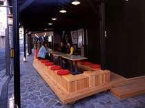 銀座通りに面する無料で利用できる当館併設の「足湯横丁」宿泊者専用足湯もあり