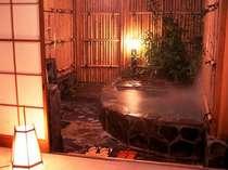 うれしい旅の想い出作り貸切露天風呂は露天風呂客室のお風呂を使用。贅沢に温泉をかけ流すお風呂。