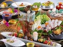 白浜ご当地名物【クエ】をさまざまな料理で堪能できるとっておきのクエ会席。