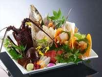 【お料理】伊勢海老と地魚の姿造り