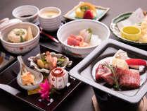 *【夕食一例】一番人気の「和牛付錦水コース」!