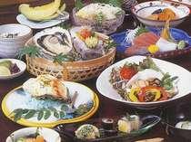 的矢かき夏牡蠣料理。夏には夏の牡蠣を♪クリーミーな味を楽しめます(お料理の写真はイメージです)