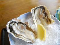*的矢で水揚げされた新鮮な牡蠣はレモンで。※お料理の写真はイメージ