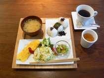 1Fカフェでの朝食