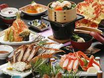【かにづくし】 冬の味覚!蟹の水揚げ量日本一☆リーズナブルに蟹を堪能♪「お得なカニ会席プラン」