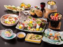 【料理長のイチオシ!】ちょっぴりリッチに!島根の旬魚の姿造り&島根牛&伊勢海老会席