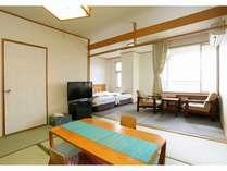 和室(6畳又は8畳)と洋室(ツイン)を備えた和洋室(一例)