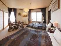 和洋室207号室(和室6畳、ベッド2台)