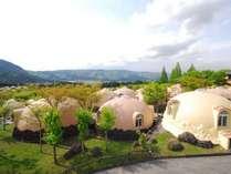大自然阿蘇健康の森【ヴィレッジゾーン】爽快な眺めのヴィレッジゾーン。