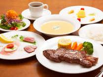 【夕食】サーロインステーキディナー