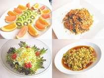 朝食の一例♪フルーツ・サラダなど、バランスんの良い朝食をご提供します
