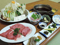 *【すき焼き】ブランド牛「但馬牛」と自家製野菜を使っております