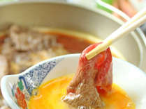 ★但馬牛の特製すき焼き。自家製の野菜と但馬牛の甘みが引き立つ一品です。