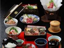 滋賀の食材にこだわった会席料理。味だけでなく見た目にもこだわった特製料理。