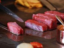 ★鉄板焼き/とろける滋賀のブランド牛「近江牛」をお召し上がりください。