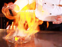 ★鉄板焼き/しつこさのない甘い脂と芳醇な香り、繊細な旨味が特徴の近江牛を鉄板焼きで。