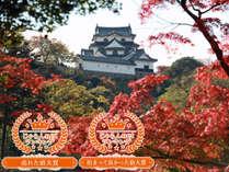 目前に彦根城を望む彦根キャッスル リゾート&スパ /彦根城望風呂付