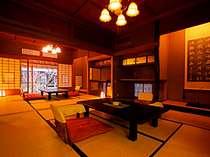 露天付離れ特別室「赤彦」。和室2室+談話室+檜露天+檜風呂+赤彦資料室がついた贅沢な造り
