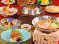 信州の夏の旬の素材を目と舌で味わう本格的な会席料理をお楽しみください