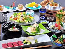 夏の味覚「鱧」と「信州特選牛」をダブルで味わい尽くす料理長渾身の会席料理