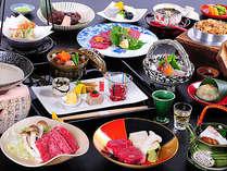 カップルの男性・女性それぞれ異なるお料理を味くらべしながら味わえる、布半オリジナルの会席コース