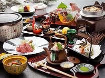 秋の味覚祭-2013-秋の味覚松茸を贅沢に使った会席料理とトロける信州特選牛の温石焼をお楽しみ下さい!
