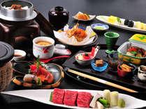 選べる温石焼をメインに、信州の味覚をたっぷりと味わう会席料理。