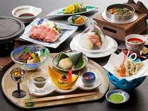 信州の春~初夏の味覚を、美味しくて綺麗な会席料理でご賞味ください。(料理一例)