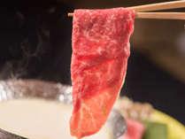 【黒毛和牛 豆乳しゃぶしゃぶ】濃厚な豆乳で、霜降りの黒毛和牛をしゃぶしゃぶ。