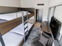 コンセプト 20平米 2段ベッド下段2名(シャワーブースのみ)