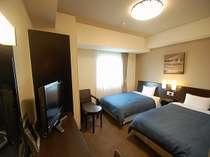 コンフォートツインはビジネスホテルのイメージが変わります!薄型液晶TV設置。