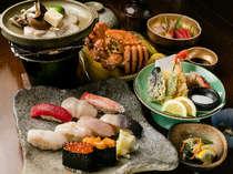 「旬寿司毛ガニ海鮮コース!!お寿司と蟹を一緒にお楽しみいただけます♪