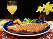 味とボリュームの信州牛ステーキ!