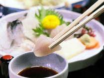・さっぱりとした新鮮なアマゴのお刺身を味わい下さい。