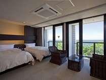 ≪オーシャンツイン≫紀淡海峡に面したオーシャンビューのお部屋です