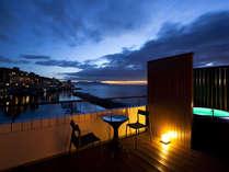 ≪オーシャンビュースパテラスルーム≫島花最上階からの眺望をお楽しみ下さいませ≪露天風呂付き客室≫