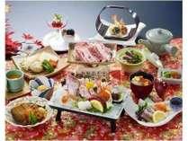 浜田の新鮮な海の幸を使用した会席料理になります
