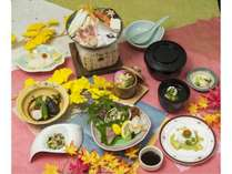 秋の千畳コース夕食のイメージ