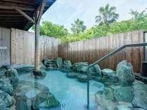 *【大浴場】露天風呂:岩風呂