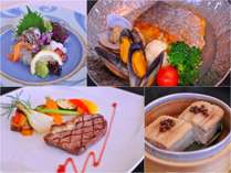 季節の会席 料理長のおまかせ和洋折衷会席(※料理はイメージです)