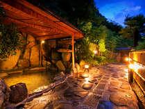 【露尾花(つゆおばな)】露天風呂で、夜風に吹かれて、温泉の暖かさに心もほぐれそう♪