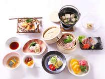 (お料理一例)山と海の幸が盛りだくさんな豪華なお料理☆