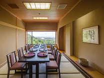 【神亀の間】お客様水入らずの個室でお食事いただけます。