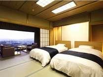 古都奈良を見渡せる最高の眺望に和室のお部屋にローベッド