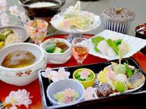 【桜見膳】お食事でも春を満喫♪季節のお料理をお楽しみください♪